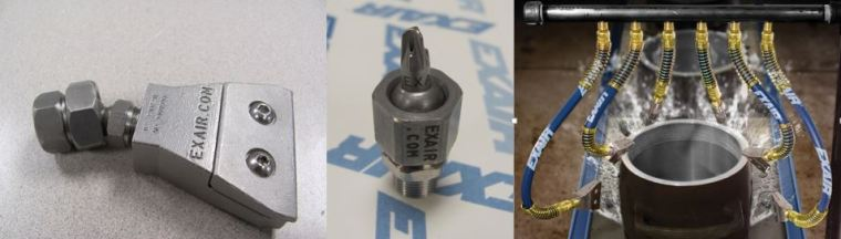 EXAIR Swivel Fittings or Stay Set Hoses - no better way to optimize your air flow than aiming it where it needs to be!