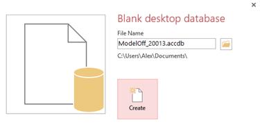 ModelOff 2013 Data Analysis problem - Access Database