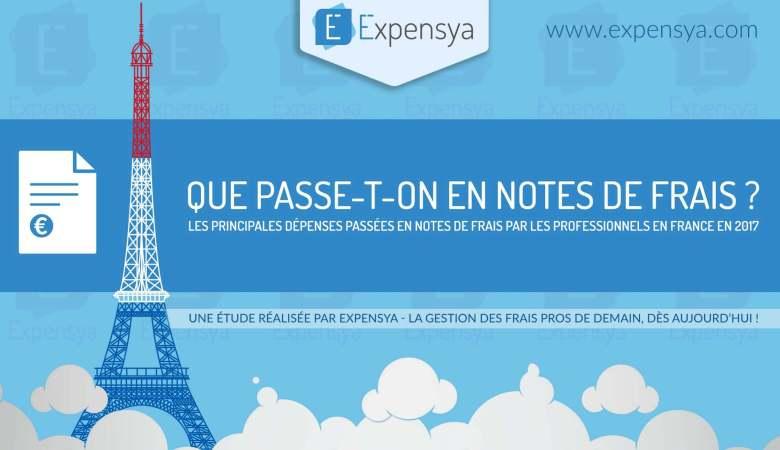 Les principales dépenses passées en notes de frais par les professionnels en France