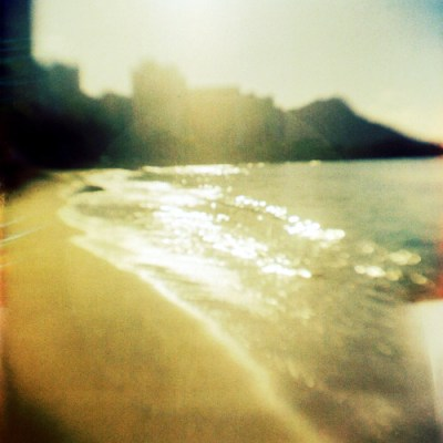 Waikiki Morning, O'ahu. fBHF on expired Ektachrome (1990).