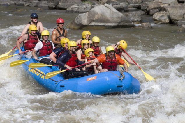 white water rafting trip in Colorado