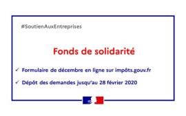 fonds de solidarité décembre 2020
