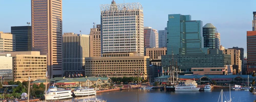 View of Baltimore, MD