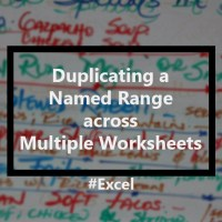 Using the same Named Range in multiple worksheets, but with different values, in Excel