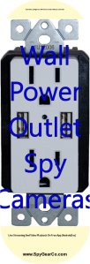 Wall Power Outlet Spy Cameras