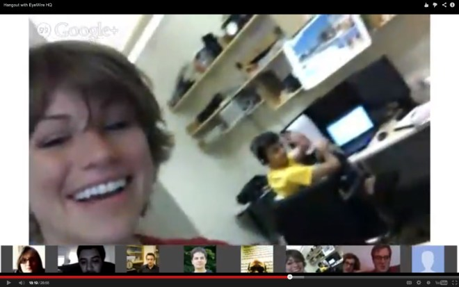 EyeWire Hangout on Air Screenshot Amy Robinson