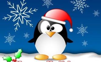happy holidays cutie penguin