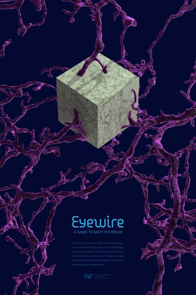 EyeWire Poster, EyeWire, neuroscience, citizen science, science design, MIT, Alex Norton