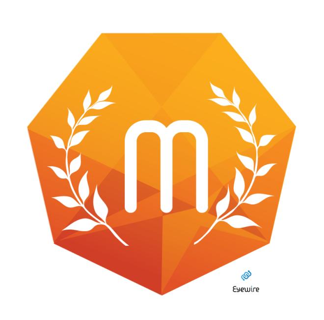 eyewire millionaire badge, eyewire, MIT, citizen science, brain game, design, icon