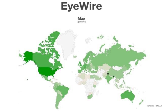 EyeWire Player Map