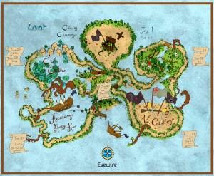 Grim Reaper, Captain Grim, treasure map, Eyewire