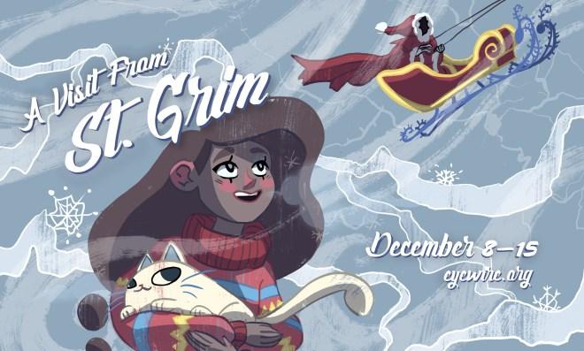 saint grim, st grim, holidauy, christmas, winter, holidays, celebrate, winter wonderland, eyewire, daniela gamba