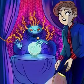 haunted mansion trivia, trivia, eyewire, neuromonster, fortune teller, magic, monster