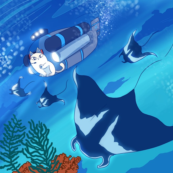Nurro, manta ray, coral reef, Eyewire, citizen science, Undersea Odyssey, marine biology, ocean, diving, water