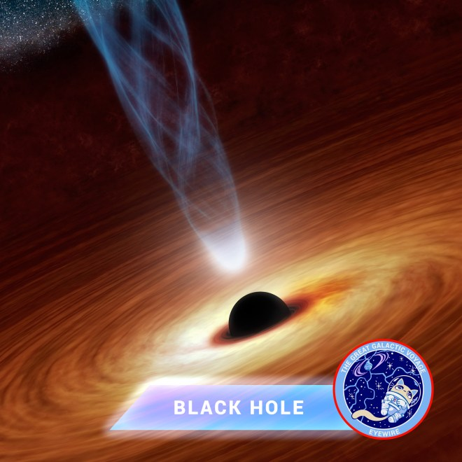 black hole, concept art, NASA, citizen science, Eyewire, Nurro, astronomy, Event Horizon Telescope, Great Galactic Voyage