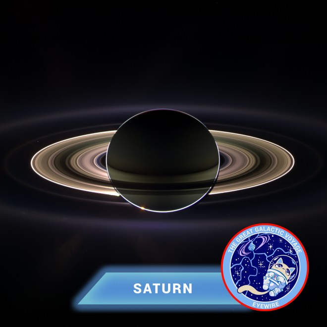 Saturn, Eyewire, citizen science, Great Galactic Voyage, Nurro, solar system, planets, NASA
