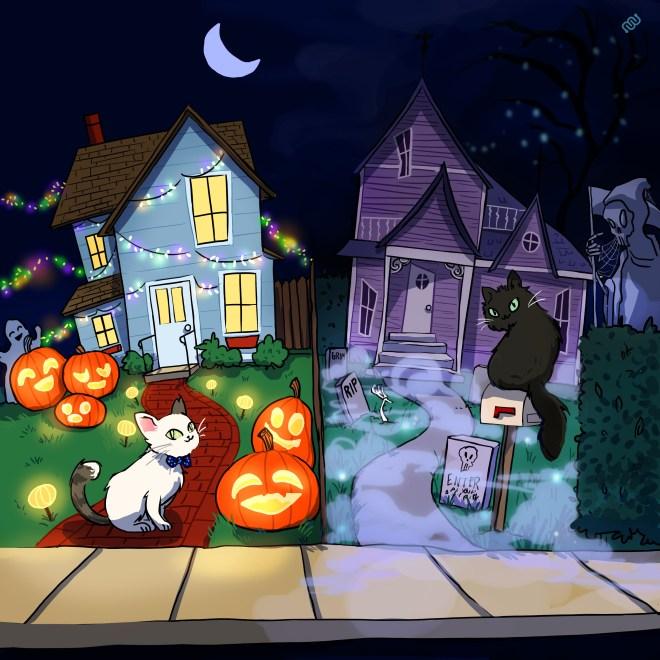 Eyewire, citizen science, Casper, Bambo, cats, Halloween, Grim's Trick or Treat, Daniela Gamba