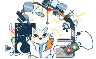 science, cat, microbiology, microscope