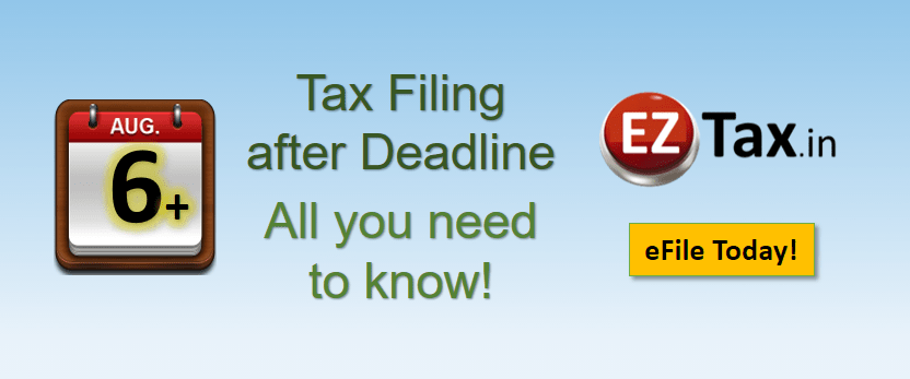 Income Tax eFiling after deadline Aug 06th 2017