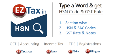 What is HSN / SAC Code ? Smart Search App from EZTax.in
