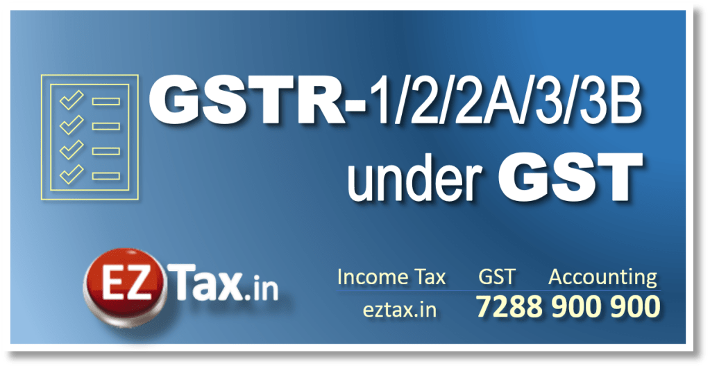 GSTR 1, 2, 2A, 3, 3B under GST Law in India | EZTax.in