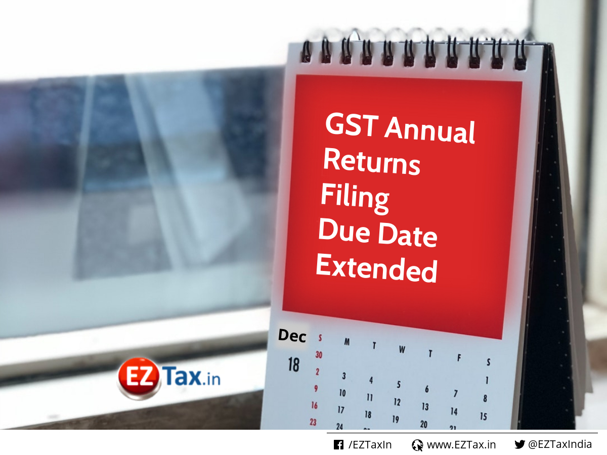 GSTR-9, 9A, 9C Annual Returns Filing Due Date Extended