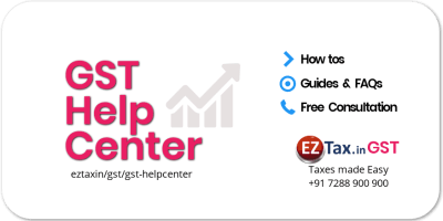 GST Tax Help Center from EZTax.in