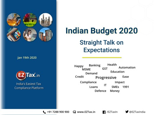 Indian Budget 2020 | Straight Talk on Expectations, Recommendations | EZTax.in