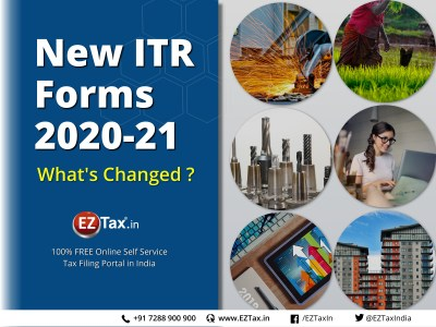 New ITR Forms released for AY 2020-21 ITR1, ITR4 | EZTax.in