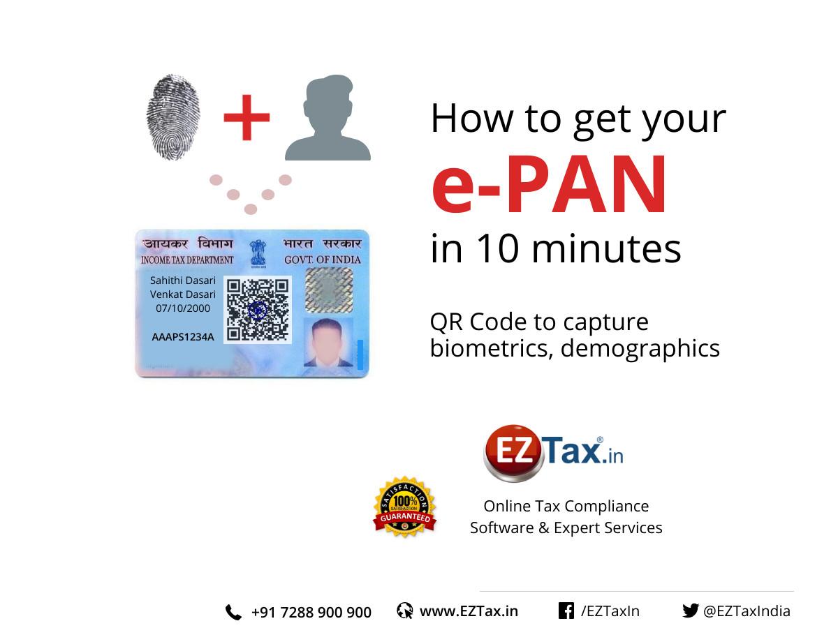 How to get ePAN in 10 minutes | EZTax.in
