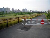 サイクリングコースへの入口
