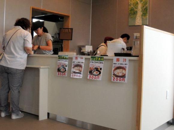 駅内のカフェ