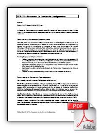 Présentation Gestion des configurations, processus ITIL