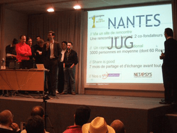 Opening night of the first JUG in Nantes over a year ago