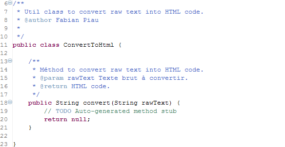The code needed for our test to compile
