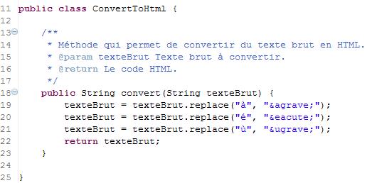 Le code suffisant pour passer le test