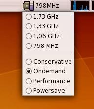 CPU Scaling applet