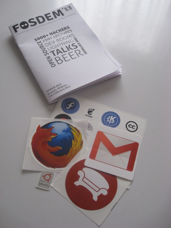 My stickers collection from Fosdem