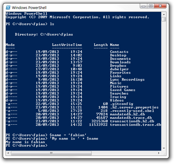 PowerShell Screen 1