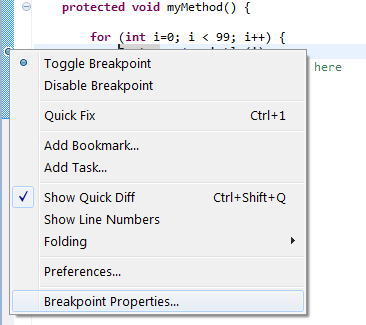 Eclipse - Edit the breakpoint