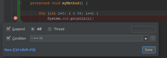 IntelliJ - Ajout d'une condition