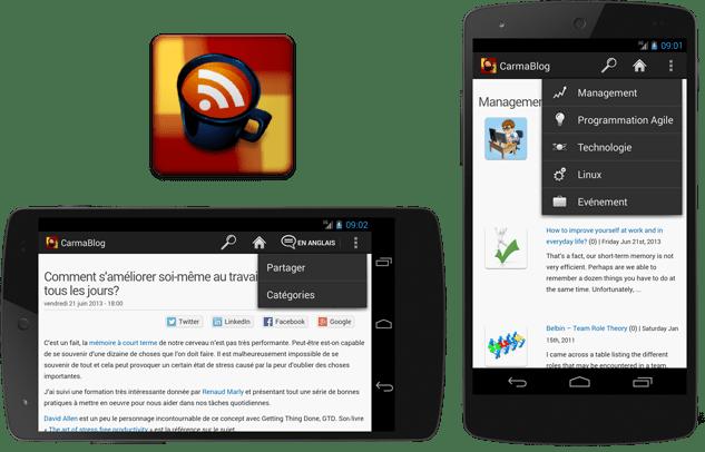 Preview de l'app CarmaBlog