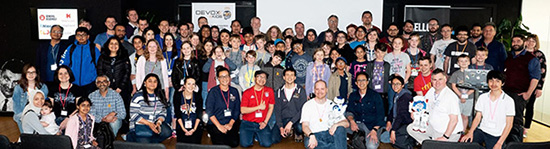 Devoxx4Kids 2018 in London - Group photo