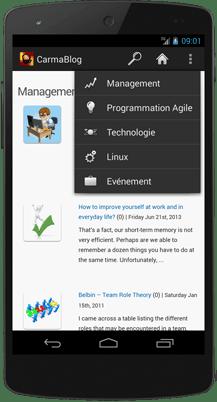 Preview CarmaBlog App