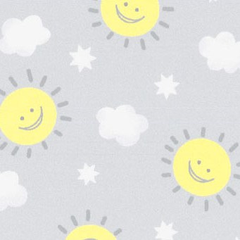 happy suns on a grey background