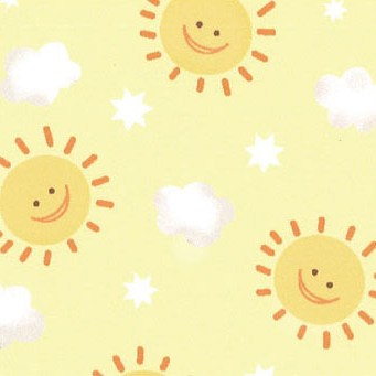 happy suns on a yellow background