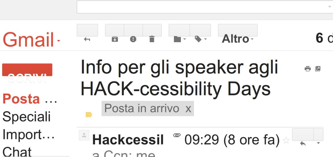 Pagina di Gmail