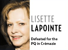 Lisette Lapointe: defeated?