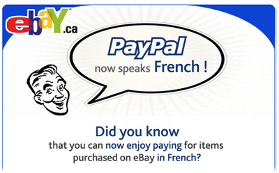 Paypal speaks French!