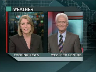 "Global Quebec's ""Weather Centre"""